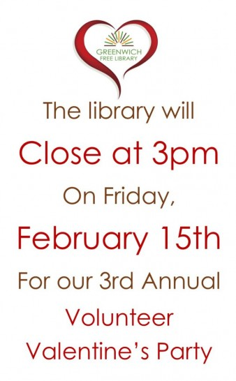 Closing Early Friday 2/15