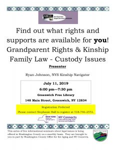 Grandparent Rights & Kinship Family Law- Custody Issues @ Greenwich Free Library