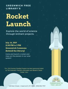 Rocket Launch @ Greenwich Commons (behind the library)